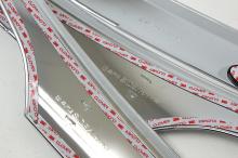 Стайлинг Хендай Санта Фе - хромированный дефлектор на капот - от производителя Auto Clover.