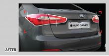 Стайлинг Киа Церато - хромированные накладки на заднюю отптику - комплект 2 штуки - от компании Auto Clover.