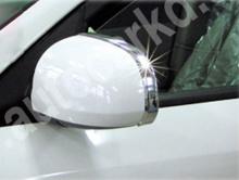 Стайлинг Хендай Соната 5 - хромиованные молдинги зеркал заднего вида - от производителя Kyung Dong.