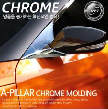 Стайлинг Хендай Велостер - хромированные накладки на передние стойки - комплект 2 штуки - от производителя Kyung Dong.