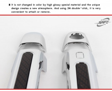 Стайлинг Хендай Соната 5 - молдинги дверных ручек хромированные с карбоновой вставкой - от компании Kyung Dong.