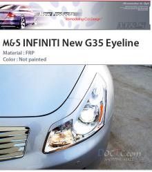 Реснички на фары для Infiniti G35