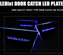Тюнинг салона Хендай Велостер - вставки под ручки дверей в салоне со светодиодной подсветкой - комплект 3 штуки - от компании Ledist.