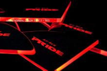 Тюнинг салона Киа Рио 3 - светодиодные вставки под дверные ручки в салоне со светодиодной подсветкой - от компании Ledist.