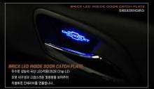Тюнинг салона Киа Пиканто 2 - светодиодные вставки под дверные ручки с подсветкой - комплект 4 штуки - от производителя Bricx.