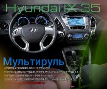 Система Хэндс Фри - мультируль, с кнопками управления магнитолой и громкой связью - Тюнинг салона Хендэ АйИкс 35.
