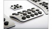 Тюнинг салона - алюминиевые накладки на педали - разные цвета - от производителя Better Grip.