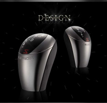Новая рукоятка КПП (переключения передач) с подсветкой, тюнинг салона Kia Rio (Pride), от производителя New Faces.
