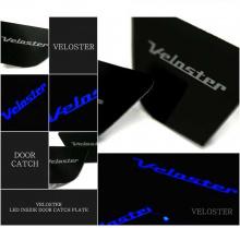 Тюнинг салона Хендай Велостер - всавки под дверные ручки в салоне со светодиодной подсветкой - комплект 3 штуки - от компании Sense Light.