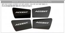 Тюнинг салона Киа Оптима - светодиодные вставки под внутренние дверные ручки - комплект 4 штуки - от компании Bricx.