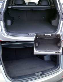 Тюнинг салона - автомобильный коврик в багажник - от компании Exos.