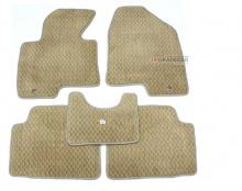 Тюнинг салона Киа Спортейдж - комплект из 5 автомобильных ковриков бежевого цвета - от компании Mobis.