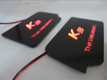 Тюнинг салона - вставка в дверные карманы со светящимся логотипом - комплект 4 штуки - от компании Sense Light.