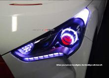 Тюнинг Хендай Велостер - передняя светодиодная оптика