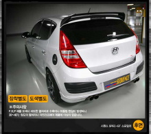 Тюнинг Hyundai i30 - спойлер на заднюю дверь.