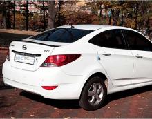Тюнинг спойлер на Hyundai Elantra MD от SM Korea