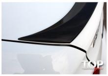 Лип-спойлер + светодиодный стоп сигнал для Хендай Солярис Седан - Оригинал. АБС - пластик (окрашенный).