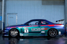 Наклейки на авто - полный набор Tanabe с легендарного Nissan Skyline GT-R R34