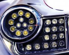 Тюнинг оптики Ниссан Жук - набор светодиодных модулей для задних фонарей.