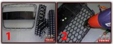 Инструкция по установке сетки в бампер или решетку радиатора