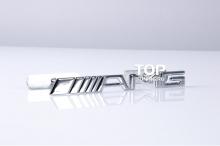 3994 Шильд в решетку радиатора AMG на болтах 160x17 mm на Mercedes