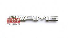 Хромированный шильд AMG для решетки радиатора Mercedes Benz