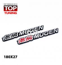 Эмблема - наклейка Mugen, с клеевой основой - 180 х 28 мм.