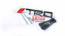 Шильд TRD алюминиевый для решетки радиатора