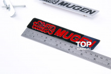4010 Шильд для решетки радиатора Mugen Хром 150x25mm на Honda