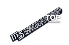 4011 Шильд алюминиевый на клеевой основе Mazdaspeed 180x30 на Mazda