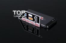 Шильд алюминиевый на клеевой основе ABT Sportline - Размер 95 х 38 мм