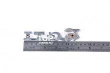4015 Шильд алюминиевый для решетки радиатора GTI 130x35 mm на VW