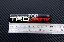 Стикер шильд TRD Sports под прозрачной смолой, на алюминиевой основе. Размер 100 * 24 мм. Черный.
