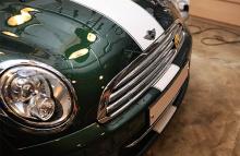 Стайлинг Мини Купер - стикер полоса на кузов