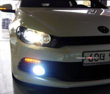 Тюнинг оптика для VW Сирокко - светодиодные модули с функцией дневных ходовых огней и поворотников