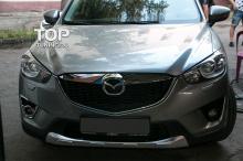 4057 Накладки на передние противотуманные фары Guardian Хром на Mazda CX-5