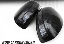 Тюнинг Infiniti FX35 - корпуса боковых зеркал заднего вида со светодиодными повторителями поворотников - от производителя GreenTech.