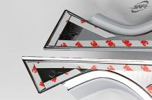 Хромированные ножки зеркал - накладки для Хендай Ай Икс 35.