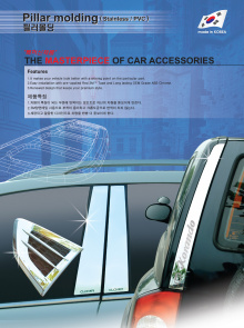 Молдинги дверей - накладки на стойки - Стайлинг Hyundai ix35.