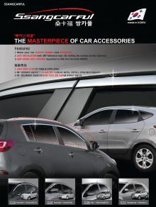 Молдинги дверей - на окна верхние - Стайлинг Hyundai ix35.