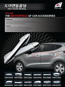 Хромированные накладки на дверные ручки для комплектации со смарт ключом - Стайлинг Hyundai ix35.