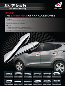 Хромированные накладки на дверные ручки для комплектации со обычным ключом - Стайлинг Hyundai ix35.