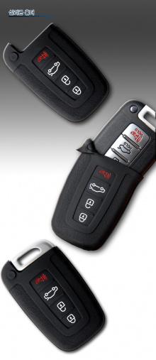 Новый! Оригинальный силиконовый чехол для брелока ключей Смарт Кей, версии SR1 C-Type 3+1, Мобис - Аксессуары Хендэ Айикс 35.