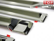 Хромированные молдинги дверей (6 элементов) - Стайлинг Хендай АйИкс 35 - производство Мобис.