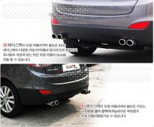 Двойная выхлопная система под заводской глушитель - Тюнинг Hyundai ix35.