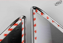 Реснички задних фонарей - хромированные накладки по периметру фары - Тюнинг Kia Sportage 3.