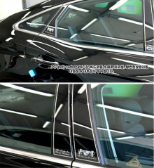 Накладки стоек дверей ArtX Luxury Generation на Hyundai Granduer HG.
