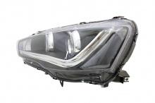Передняя тюнинг оптика на Mitsubishi Lancer 10 с неоновыми дневными ходовыми огнями