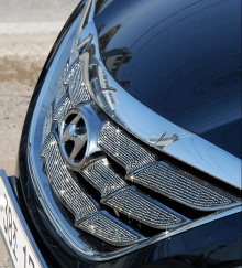 Невероятные кристаллы украсят решетку радиатора сделав неотразимым внешний вид вашего Хендэ Соната 6!