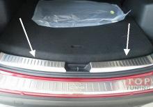 Защитные протекторы внутренней части багажника 2 шт. - нержавеющая сталь. Стайлинг Мазда ЦиКс 5.